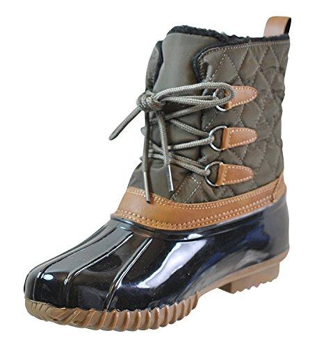 Sporto Womens Lucille Closed Toe Mid-Calf Rainboots, Olive, Size 7.0 (Rain Sporto Boots)
