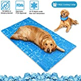 Cheap Dog Cooling Mat/Pad/Bed – Cool Gel Technology – Help Your Pet Stay Cool and Reduce Joint Pain – Prevent Overheating and Dehydration – Ideal for Outdoor Home and Travel(35.4 x 19.6 inches) (1 PACK)