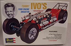 "Revell H-1285 Tommy Ivo's ""Showboat"" Four Engine Dragster 1/25 Scale Plastic Model Kit"