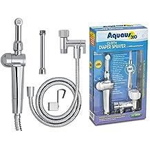 New! Aquaus 360° Premium Cloth Diaper Sprayer w/ thumb pressure controls on the sprayer- EZ pressure control makes rinsing cloth diapers quick & easy, preventing overspray & splattering