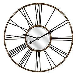 Carolyn Kinder CKI Rocca Wall Clock, One Size, Rust/Black