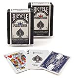 Bicycle Prestige 100% Plastic Poker Playing Cards 2 Pack Red Blue