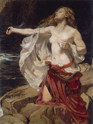 JH Lacrocon John William Waterhouse - Ariadne Canvas Wall Art Rolled 45X60 cm (Approx. 18X24 inch) - Mythology Paintings Reproductions Prints ()