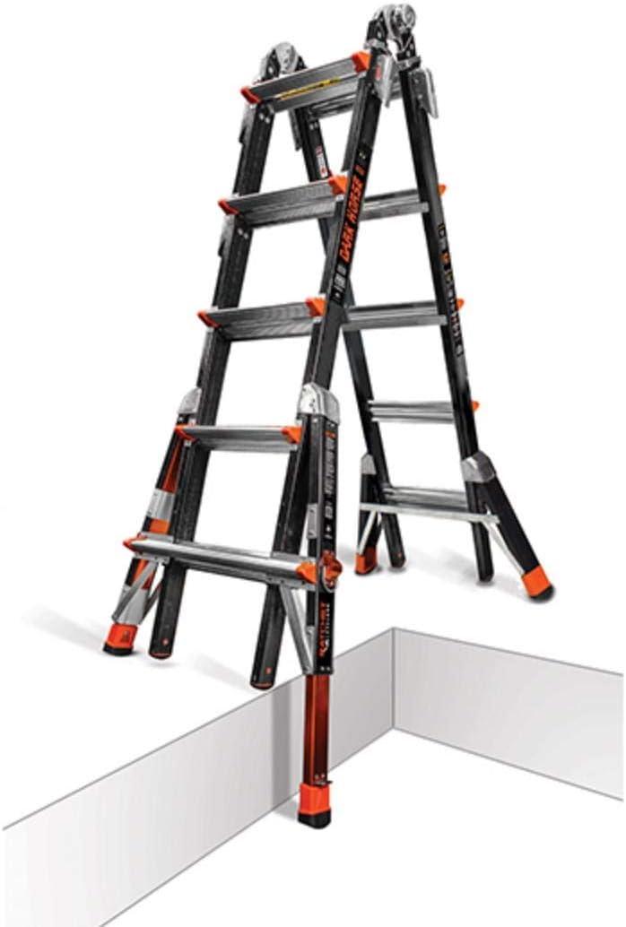 Poco gigante 22 oscuro caballo niveladores Fibra de vidrio escalera multiusos con trinquete 300 Libra calificación 15145 – 801: Amazon.es: Bricolaje y herramientas