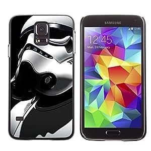 TaiTech / Prima Delgada SLIM Casa Carcasa Funda Case Bandera Cover Armor Shell PC / Aliminium - Traje Stormtrooper - Samsung Galaxy S5