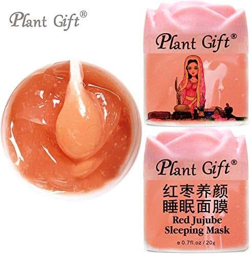PLANT GIFT RED JUJUBE SLEEPING MASK Ziziphus Zizyphus Protein Vitamin B, C, P Wrinkle, Moisturize Skin Care Anti-Aging 20G2pcs