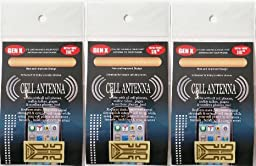 Generation X Plus Smartphone Antenna 3 Pack Tablet Mobile Nook Kindle Samsung Nokia Windows HTC LG Ericsson