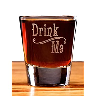 Drink Me Alice in Wonderland Swirl Style Shot Glass
