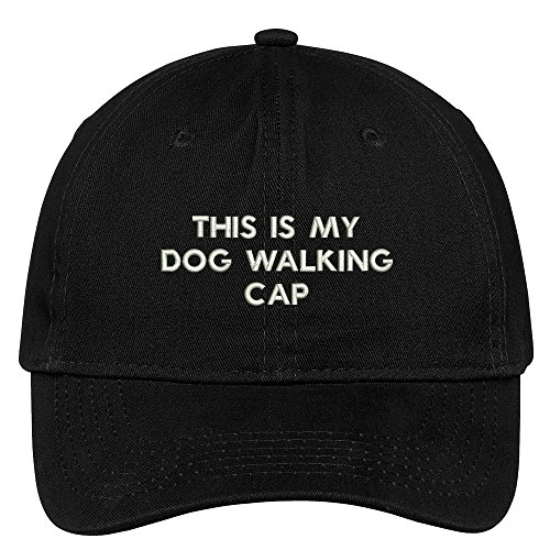 Trendy Apparel Shop This Is My Dog Walking Cap Embroidered Cap Premium Cotton Dad Hat - (Cotton Walking Hat)