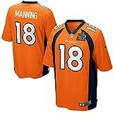 Men's Denver Broncos Peyton Manning Nike Orange Super Bowl 50 Bound Game Jersey (Large)
