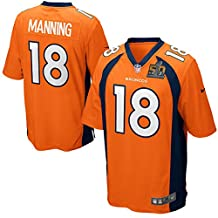 Men's Denver Broncos Peyton Manning Nike Orange Super Bowl 50 Bound Game Jersey (Large)