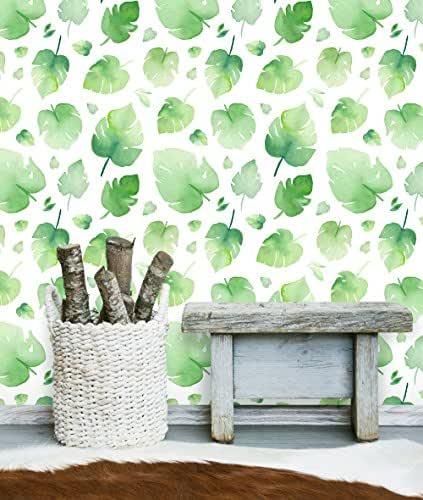 Amazon.com: Peel and Stick Removable Wallpaper Watercolor ...