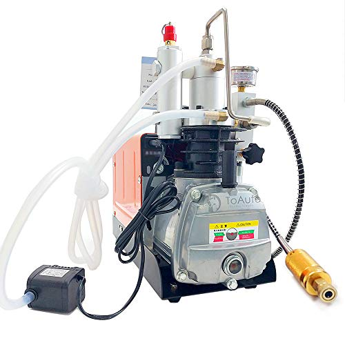 Updated 110V 30Mpa High Pressure Air Compressor Pump 4500PSI Electric Air Compressor for Inflation Bottle Pneumatic Airgun Scuba Rifle PCP Inflator