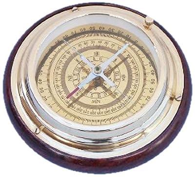 """Hampton Nautical Brass Directional Desktop Compass, 6"""", Brass"""
