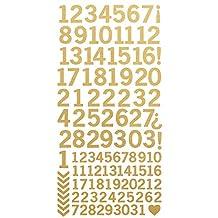"Number Stickers 6""X12""-Metallic Gold"