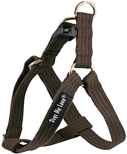 organic-cotton-web-adjustable-dog-step-in-harness-4-sizes-brown-medium-12-21-chest-3-4-wide