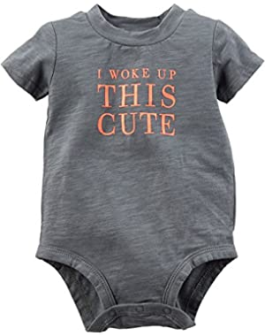 Carters Baby Boys I Woke Up This Cute Bodysuit
