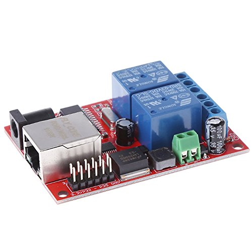 Wangdd22 Electronic kit Circuit Board LAN Ethernet 2-way Relay Board Delay Switch TCP/UDP Controller Module WEB Server, Android APP by Wangdd22