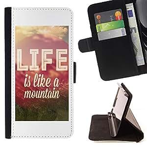 For Samsung Galaxy S3 III i9300 i747 Case , Vida Cita Montaña motivación positiva- la tarjeta de Crédito Slots PU Funda de cuero Monedero caso cubierta de piel