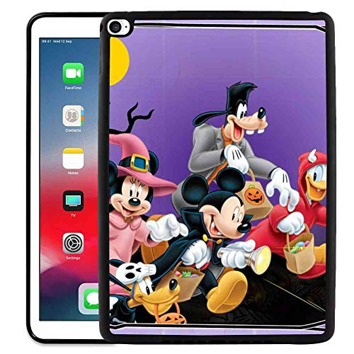 DISNEY COLLECTION iPad Mini 4 [2015] Cover Case (7.9 Inch) Halloween Mickey Mouse and Minnie Mouse Goofy Donald Duck Pluto Disney Halloween Wallpaper