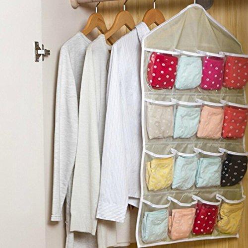 DZT1968 Multifunction Clear Socks Shoe Underwear Sorting Storage Bag Door Organizer