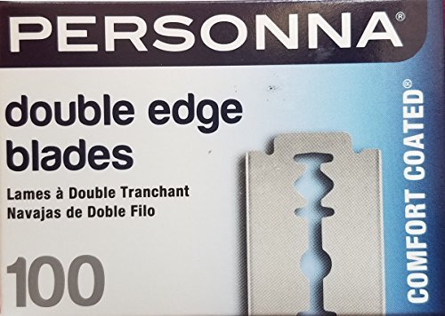 (Personna Double Edge Razor Blades in White Wrapper 100 count)