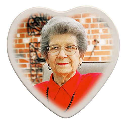 Memorial Portrait - Heart Memorial Porcelain Portrait (6
