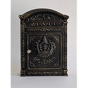Victorian Style Wall Mounted Cast Iron Mailboxes Weight
