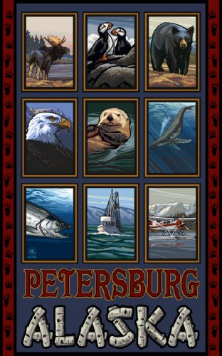 Northwest Art Mall Petersburg Alaska Collage Artwork by Paul A Lanquist, 11-Inch by - Petersburg Mall