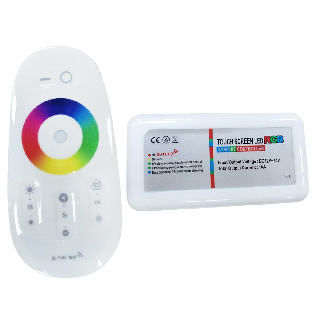 Sharplace Lámpara Colorida de 2.4G RGB Tira Ligera Llevó Regulador de Iluminación Tacto Módulo LED Cómodo
