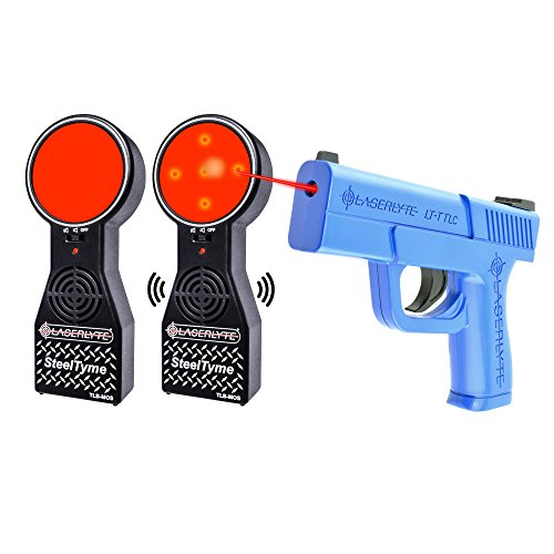 - LaserLyte Trainer Target Steel TYME with PLINKING Steel Sound Laser Trainer Compact Size Glock 43 Familiar Size Weight and Feel RESETTING Trigger Training with This System Will Make You Better