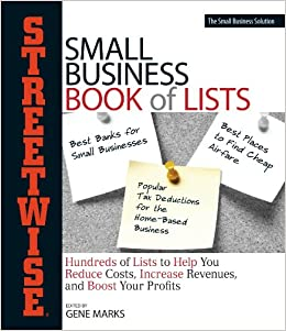 Streetwise Small Business Book Of Lists Hundreds Of Lists To Help