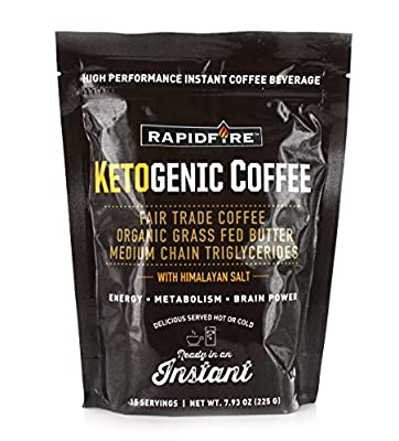 Rapid Fire Ketogenic High Performance Instant Coffee Mix, Supports Energy and Metabolism, 15 Servings from WINDMILL HEALTH PRODUCTS