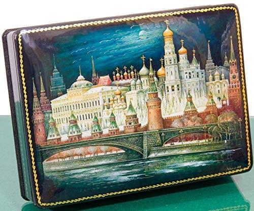 craftsfromrussia Russian Lacquer Miniature - Jewelry Trinket Box - Series #2