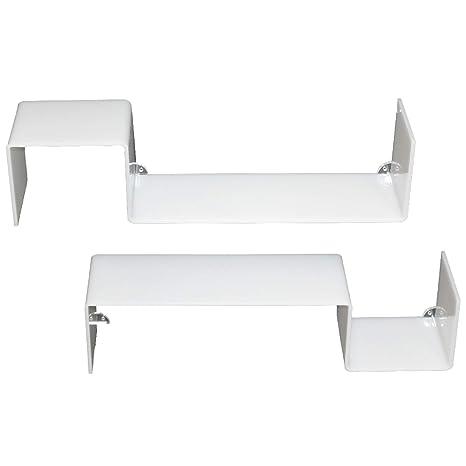 Mensole Bianco Lucido.Yelloo 2 Mensole Design Bianco Lucido Libreria A Muro Gisy B