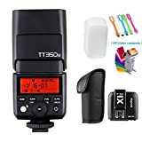 Godox TT350S 2.4G HSS 1/8000s TTL GN36 Wireless Speedlite Flash light with X1T-S Flash Trigger Transmitter for Sony A7 A7R A7S A7 II A7R II A7S II A6300 A6000 camera+Filters & USB LED Free Gift