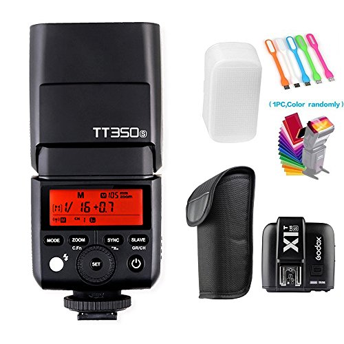 Godox TT350S 2.4G HSS 1/8000s TTL GN36 Wireless Speedlite Flash light with X1T-S Flash Trigger Transmitter Compatible for Sony Mirrorless Digital Camera (TTL autoflash)