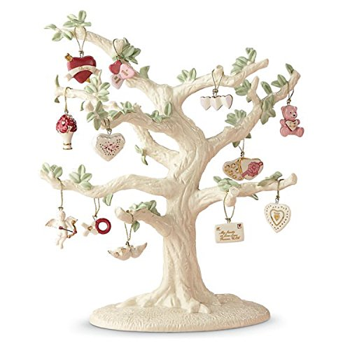 Cupid Ornament - Lenox Valentine Be Mine Miniature Tree Ornaments Set of 12 Heart Dove Cupid NO TREE