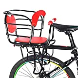 Baby Bicycle seat-Child Carrier with Non-Slip handrail Rear seat,red