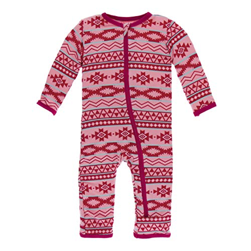 Kickee Pants Print Coverall with Zipper (Strawberry Mayan Pattern - 3-6 Months) ()