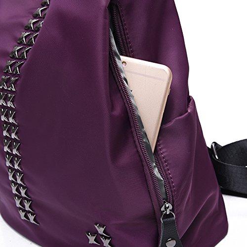 PU KYOKIM Sac Purple à Voyage Cuir Sac Mode Rivets Dos à Femmes Femmes Sac Dos YACAqUxfw