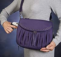 GTM Gun Tote'n Mamas Up Town Tote Bag, Purple, Medium
