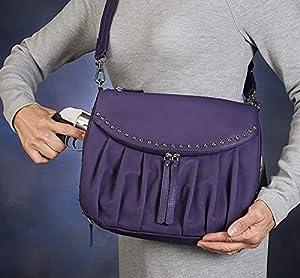 GTM Gun Tote'n Mamas Up Town Tote Bag, Purple, Medium