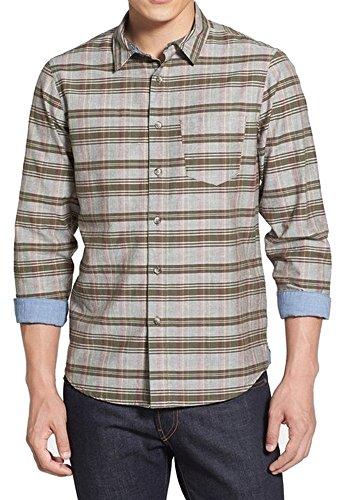 1901-nordstrom-plaid-mens-medium-button-down-shirt-green-m