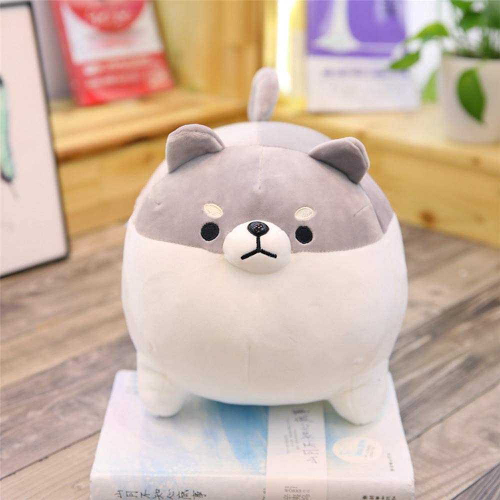Round Eye Valentines /& Christmas Gifts for Girlfriends Kids BLACKOBE Anime Shiba Inu Plush Stuffed Sotf Pillow Doll Cartoon Doggo Cute Shiba Animal Toy Grey 16