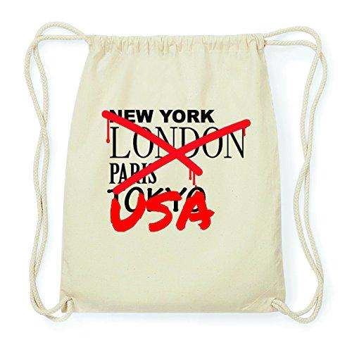 JOllify USA Hipster Turnbeutel Tasche Rucksack aus Baumwolle - Farbe: natur Design: Grafitti HebdlLB