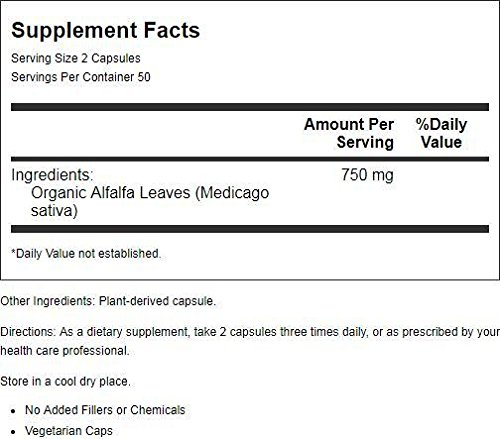Alfalfa Leaves Dr. Christopher 100 VCaps