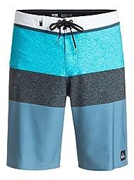 Quiksilver Men\'s Everyday Blocked Vee 20 Inch Boardshort Swim Trunk, Everyday Blocked Meadowbrook, 32
