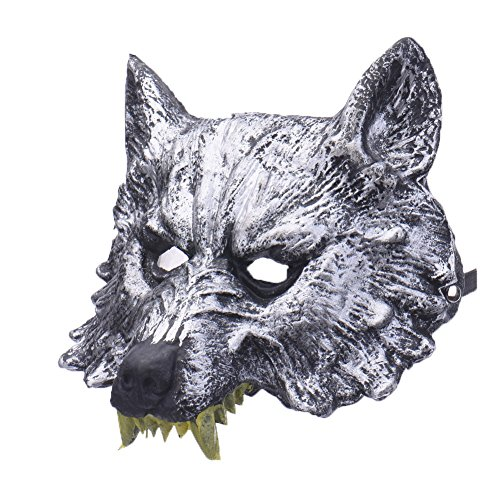 DeemoShop Horror Wolf Head Latex Mask for Halloween Party Carnaval Masquerade Cosplay Bar Performances Decorations for $<!--$15.60-->