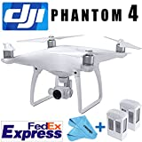 DJI PHANTOM 4 GPS QUADCOPTER PHANTOM4 DRONE GIMBAL 4K/12MP HD CAMERA NEW+ EXTRA BATTERY Fedex EXPRESS+4 Prop Guards